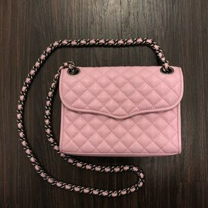 Rebecca Minkoff Mini Quilted Affair in Pale Pink